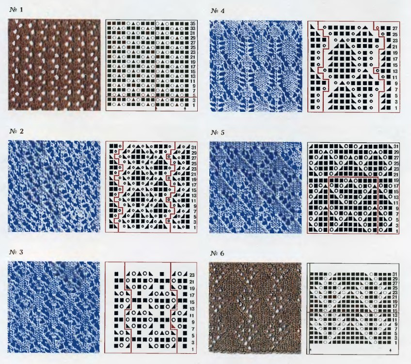 Схемы для вязания крючком ажур