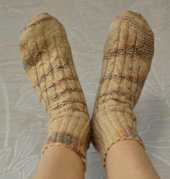 носки вязаные спицами фото
