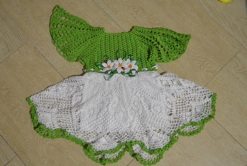 Вяжем летнее платье для девочки фото