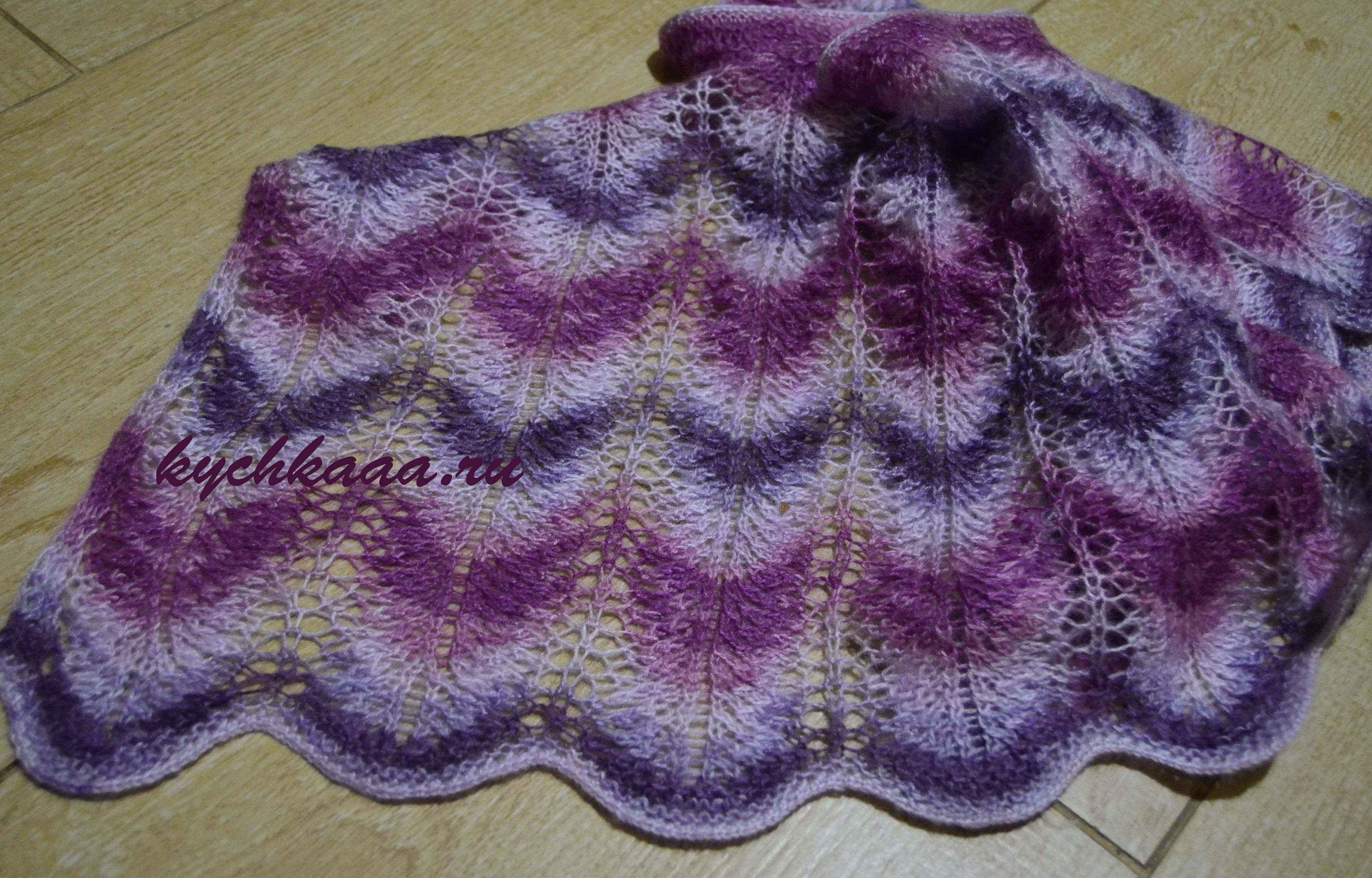 вязаные шарфы и палантины из мохера схемы и описание