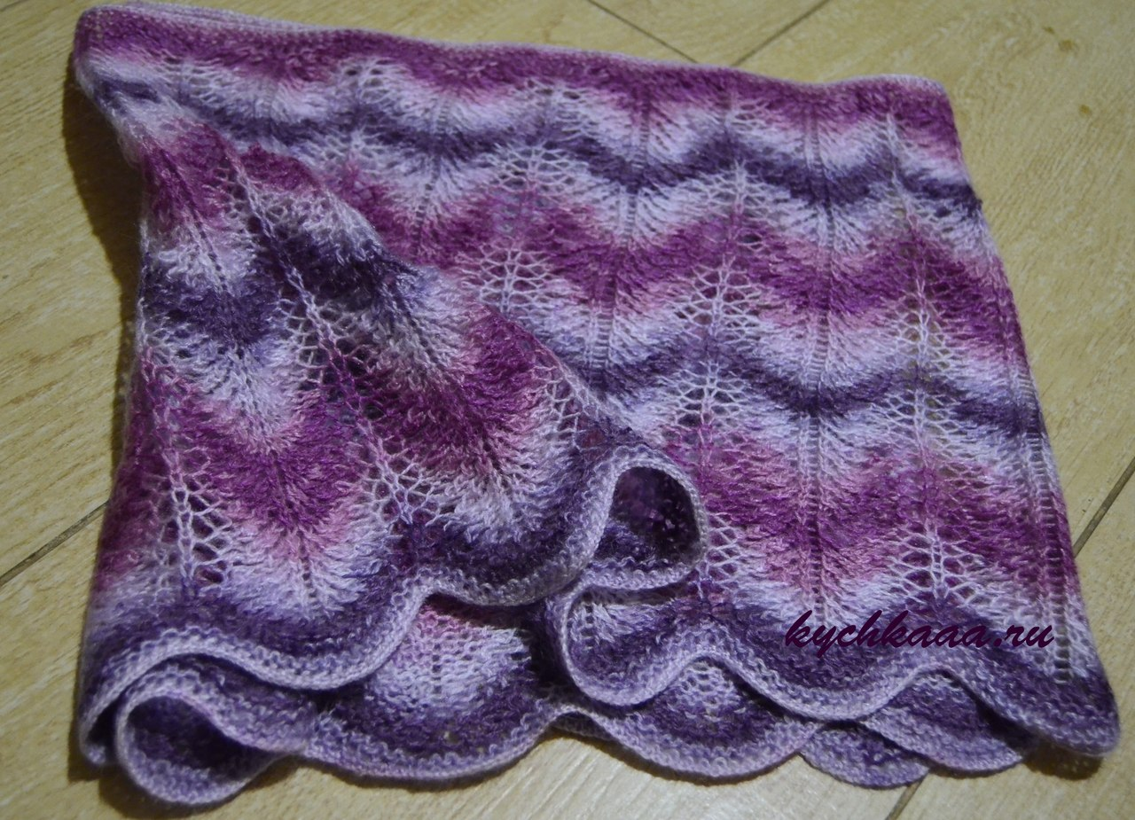 Openwork scarf-stole handmade