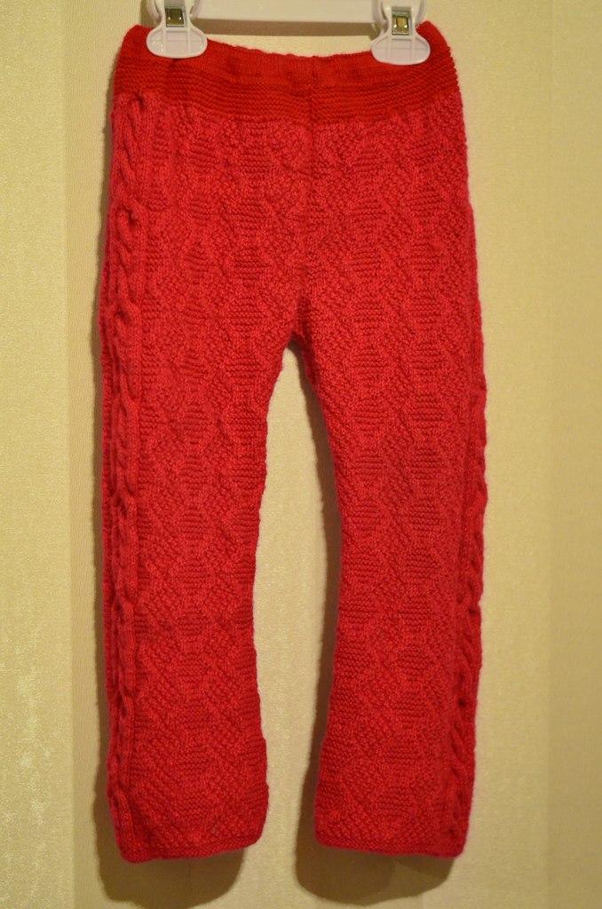 Тёплые красивые штаны для девочки