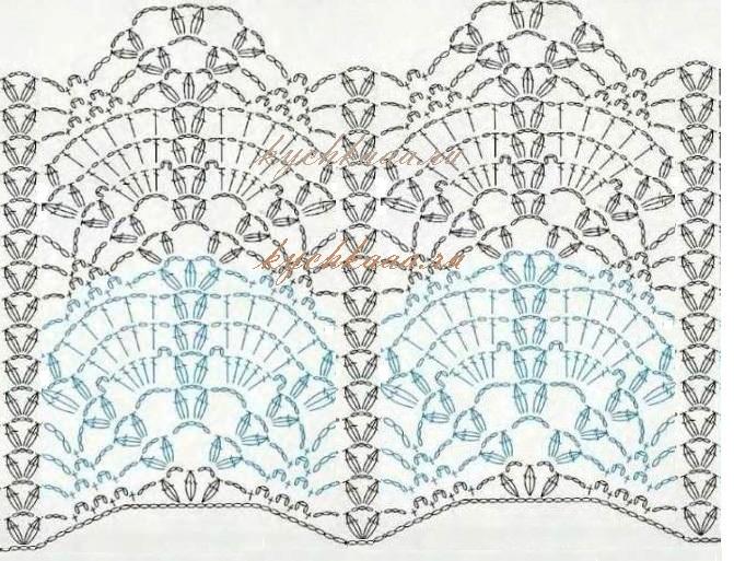 Схема для ажурной блузки интересная схема крючком