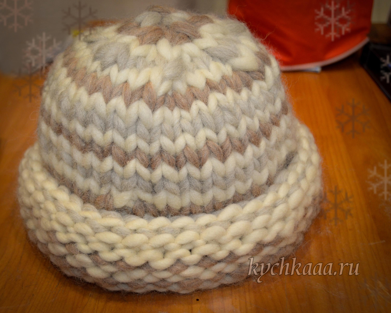 вяжем шапку из толстой пряжи крючком ярмарка мастеров как вязать